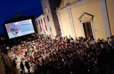 Cinema Trg: the festival's main screen